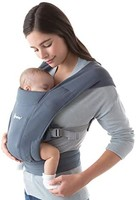 ergobaby Ergobaby Embrace 婴儿背带 适用于新生儿从出生起 超柔软 腹部背带 婴儿便携包 符合人体工程学 牛津蓝