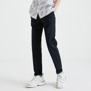 JACK&JONES 杰克琼斯 男士潮流时尚百搭简约个性纯色弹舒适修身商务休闲长裤