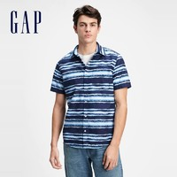 Gap 盖璞 975213 夏季新款男士休闲通勤衬衫