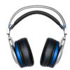 XIBERIA 西伯利亚 K5 耳罩式头戴式有线耳机 黑蓝色 USB口