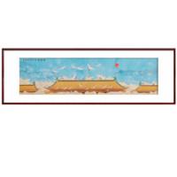 尚得堂 徐丽 纯手绘仿古国画《瑞鹤图》装裱133x43cm 宣纸 沙比利实木框