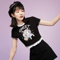 VERO MODA Y2K二次元撞色女士短袖T恤