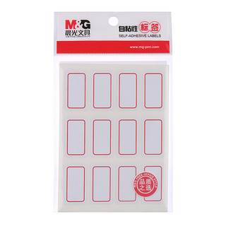 M&G 晨光 文具12枚*10页红框自粘性标签贴纸 便利便签条 百事贴 价格条标签贴YT-14