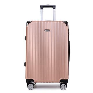 黑沙 行李箱男拉杆箱拉链20英寸旅行箱登机箱万向轮密码箱女学生皮箱子H838 玫瑰金 20英寸