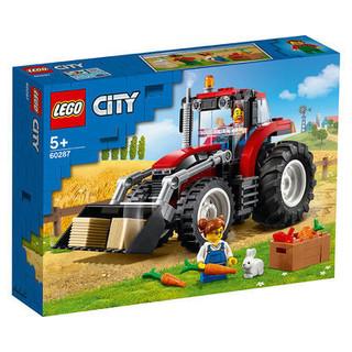 百亿补贴 : LEGO 乐高 城市系列60287农用铲车儿童益智拼搭积木玩具叉车模型