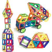 Dream start 梦启点 儿童彩窗磁力片积木轨道玩具 纯85片磁力片