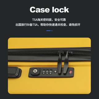 KUGIMACHI 乐旅 行李箱PP拉杆箱智能箱20英寸旅行密码箱登机箱万向轮防摔箱大容量