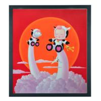 维格列艺术 曹继才艺术版画《牛气冲天》56x45cm 艺术微喷 限量66版