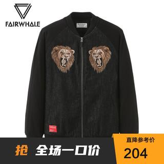 MARK FAIRWHALE 马克华菲 B商场同款马克华菲夹克男冬季新款潮裤虎头刺绣加棉外套