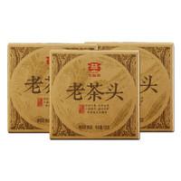 TAETEA 大益 普洱茶 熟茶 2014年老茶头 100g*3盒装