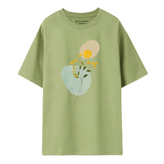 GIORDANO 佐丹奴 女士夏季新款印花宽松纯棉圆领短袖上衣打底衫T恤女
