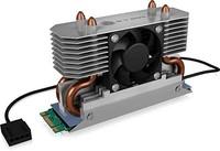 ICY BOX M.2 NVMe 散热器带风扇和加热管散热器