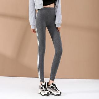La Chapelle 拉夏贝尔 旗下新款女款时尚气质外穿修身显瘦双白条打底裤女中腰