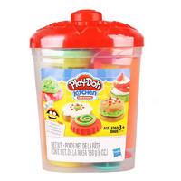 Hasbro 孩之宝 培乐多彩泥厨房曲奇工具桶橡皮泥安全黏土儿童手工玩具