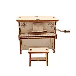 西克里 DIY自制钢琴手摇音乐盒材料包拼装儿童玩具