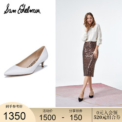 SAM EDELMAN春夏新款时尚尖头猫跟鞋真皮高跟婚鞋单鞋女DORI