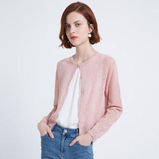 2021春夏季新休闲小清新女式开衫外套圆领长袖针织衫