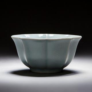 慈空 汝窑功夫茶具套装茶杯陶瓷单杯汝瓷茶碗家用开片可养