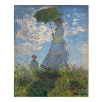 buybuyART 买买艺术 莫奈《撑阳伞的女人》40*30cm 装饰画 油画布