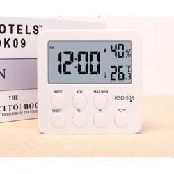 KESHIDE 科士德 高精度电子家用闹钟 带温湿度计