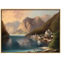 弘舍 古斯塔夫 风景油画《天堂湖畔》78x58cm 油画布 1931年 香槟银