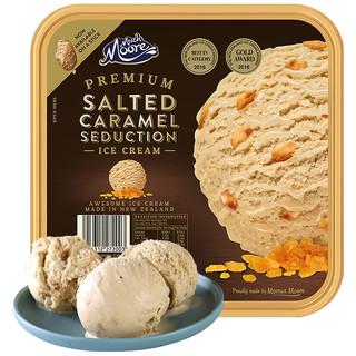 京东PLUS会员 : MUCHMOORE 玛琪摩尔 进口冰淇淋桶装雪糕冷饮冰激凌生鲜冰淇凌 海盐焦糖味2000ml