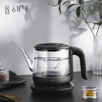 24日0点:INTEONE 入一 静音恒温电热烧水壶玻璃壶身不锈钢壶底大容量办公室家用水壶