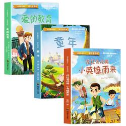 《小英雄雨来+童年+爱的教育》快乐读书吧 全3册