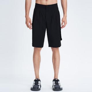 SEPTWOLVES 七匹狼 2021夏季新款男士运动休闲净色工装短裤