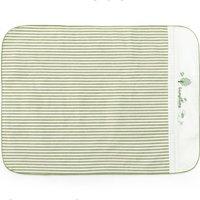 L-LIANG 良良 LLN1 棉麻条纹婴儿隔尿垫 绿色条纹 81*60cm