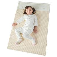 L-LIANG 良良 LLN1 棉麻条纹婴儿隔尿垫 咖色条纹 110*72cm