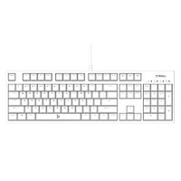 TAIDU 钛度 TKM320 104键 有线机械键盘 白色 Cherry茶轴 无光