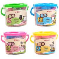 M&G 晨光 AKE04032 儿童手工橡皮泥 12色 1桶装