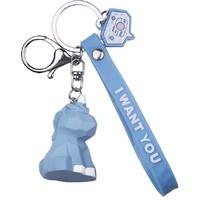醉蓝 蓝色独角兽 汽车钥匙扣