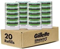 Gillette 吉列 Mach3 敏感男士剃须刀 20片刀芯