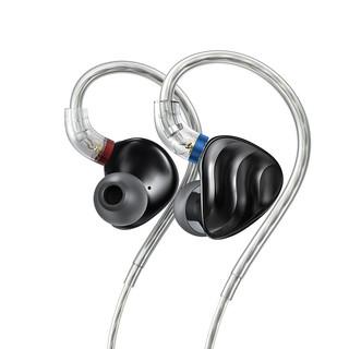 FiiO 飞傲 FH3 入耳式挂耳式圈铁有线耳机 黑色 3.5mm