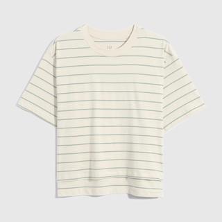 Gap 盖璞 女士纯棉条纹宽松T恤