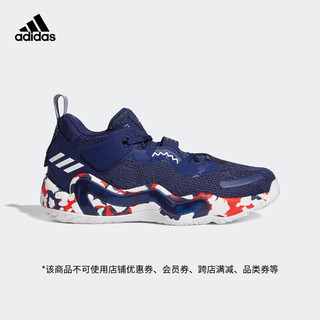 adidas Originals 阿迪达斯官网 adidas D.O.N. Issue 3 GCA 米切尔3代新款男鞋低帮篮球运动鞋GW2945 深蓝/白/红 42(260mm)