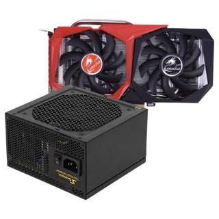 COLORFUL 七彩虹 战斧 Geforce GTX1660 6G 显卡 6GB +海韵 金牌(90%)全模组ATX电源 550W