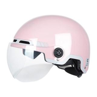 晓安 0812 摩托车头盔 桃粉色