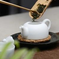 长物居 无光白脂白陶瓷茶壶小号 景德镇手工瓷器茶具