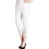 piruity 派瑞帝 女士中老年七分裤 A473D-ZJ 白色 3XL