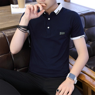 AEX 海澜之家旗下夏季新款休闲短袖Polo衫男翻领商务男士短袖T恤