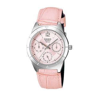 CASIO 卡西欧 手表指针系列三眼表盘时尚防水石英女表