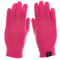 迪卡侬户外保暖手套男童女童儿童宝宝秋加绒抓绒全指手套KID3 粉色 S