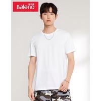 PLUS会员:Baleno 班尼路 88802215 男士打底衫基础百搭短袖T恤