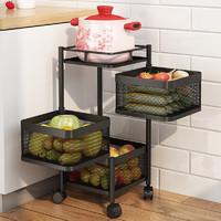 MAXCOOK 美厨 MCZW0126 厨房可移动置物架 四层
