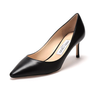 JIMMY CHOO 周仰杰 女士羊皮尖头高跟鞋黑色 ROMY 60 KID 247 BLACK 39码