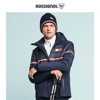ROSSIGNOL 联名款男士条纹绗缝防水透气弹力滑雪服RLIMJ78 蓝色 M