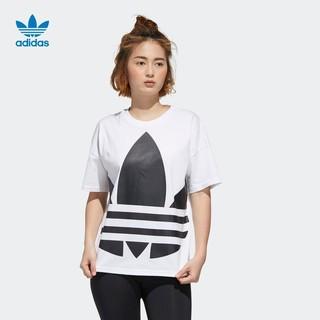 adidas 阿迪达斯 官网adidas 三叶草 LRG LOGO TEE 女装运动短袖T恤GJ1009
